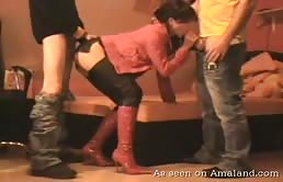 Filmato porno di sesso amatoriale a tre